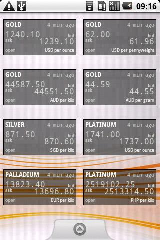 Precious Metals Price Widget Android Finance