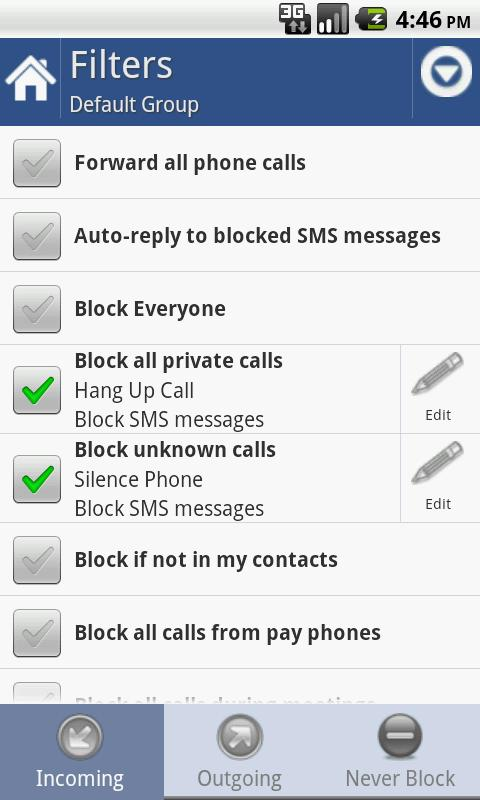 Call Blocker Gold Android Productivity