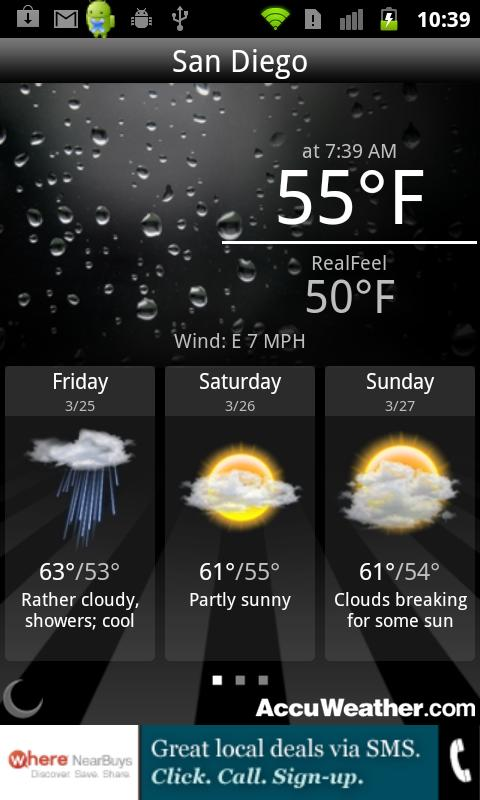 AccuWeather Quick Android Weather