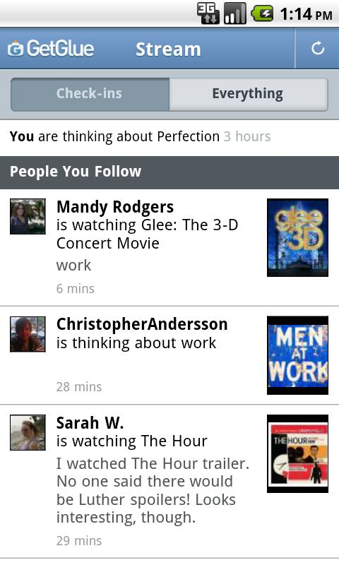 GetGlue Android Social