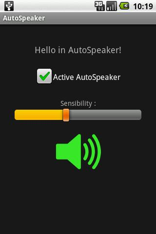 Auto Speaker Android Communication