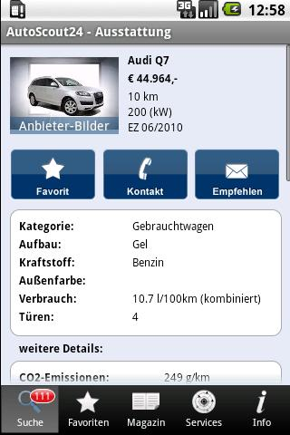 AutoScout24 - used car finder Android Books & Reference