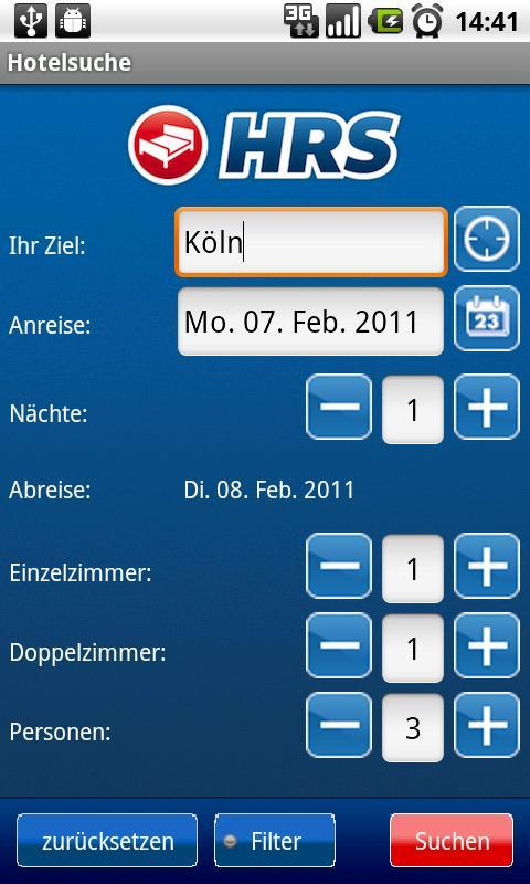 HRS App Android Travel & Local