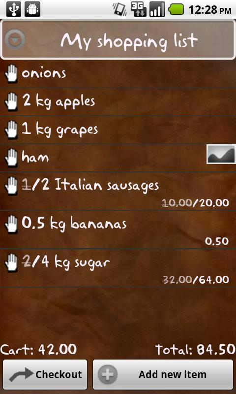 My Shopping List Free Android Shopping