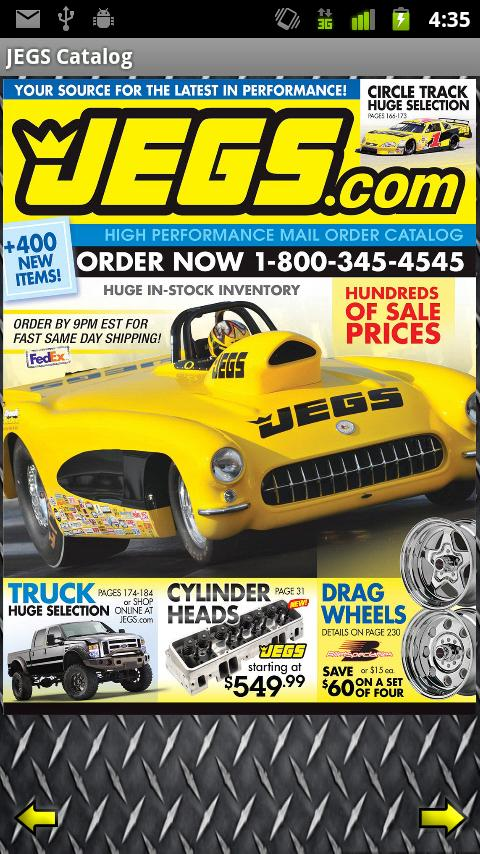 JEGS Catalog Android Shopping