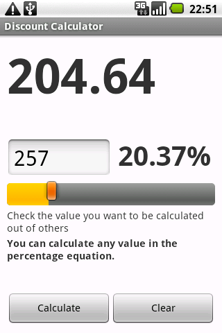 Discount Calculator Android Shopping