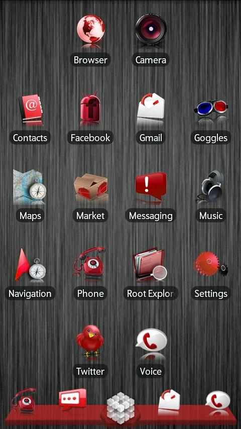 Red ADW Theme Android Personalization