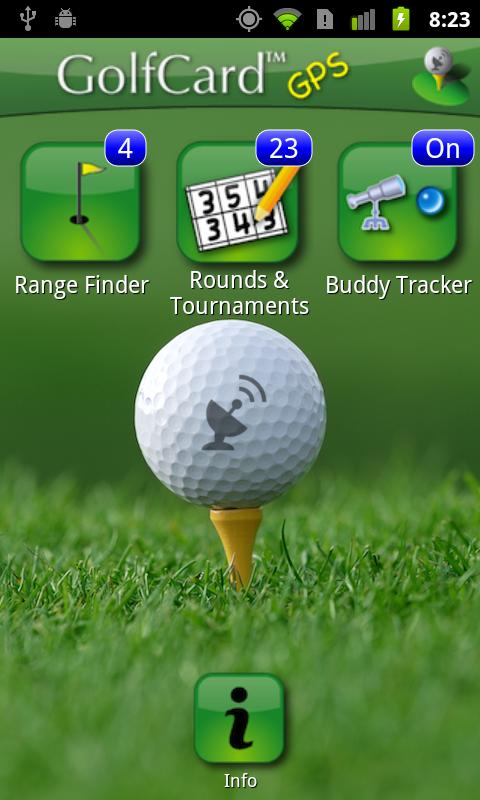 GolfCard GPS Android Sports