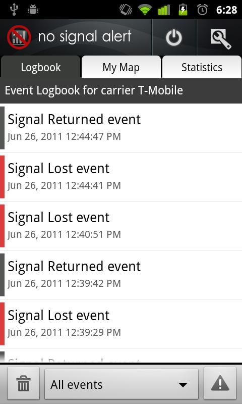 No Signal Alert Android Communication