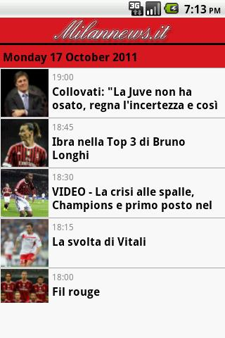 Milan News Android Sports