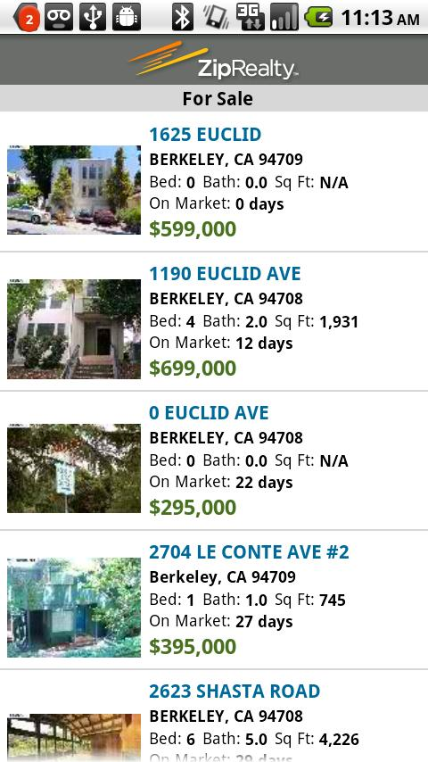 Homes for Sale - ZipRealty Android Lifestyle