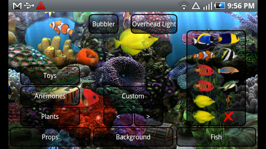 Aquarium Live Wallpaper Android Personalization