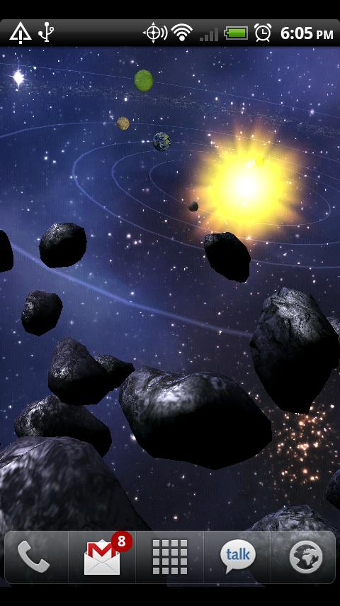 Asteroid Belt Live Wallpaper Android Personalization