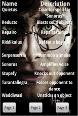 Harry Potter Spell List Android Books & Reference