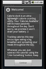 Calorie Clock Weight Loss Android Health & Fitness