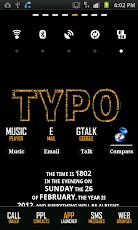 Typo Gold GO Launcher EX Theme Android Personalization