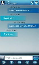 GO SMS Pro GlassBox Theme Android Personalization