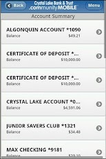 Crystal Lake Bank and Trust Android Finance