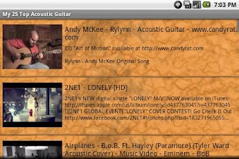 My 25 Top Acoustic Guitar Android Entertainment