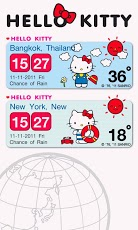 Hello Kitty Weather Widget Android Personalization