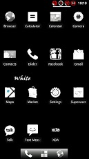 White ADW Theme Android Personalization