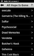 Slipknot Lyrics Android Music & Audio