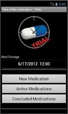Time of the Medication - Trial Android Medical