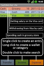 Cash Watcher Lite Android Finance