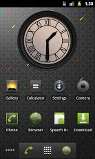 Back to the future. Clock. Android Personalization