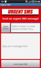 Urgent SMS Android Communication