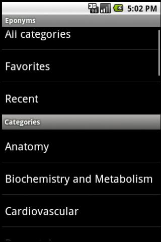 Eponyms Android Health & Fitness