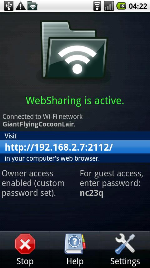 WebSharing File/Media Sync Android Communication