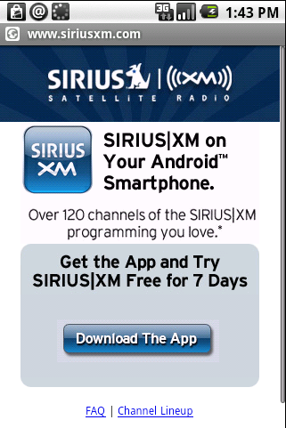 Sirius XM Radio for Android