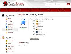 WaveSecure Website Layout details
