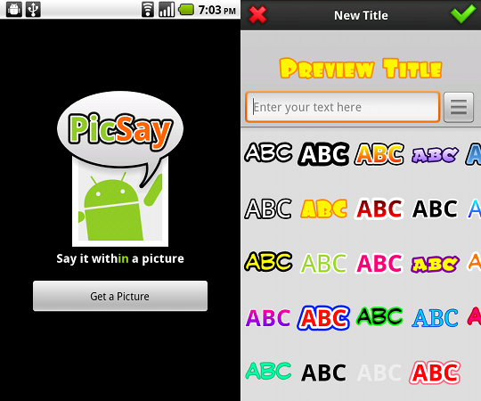 PicSay Photo Editor App for Android Review