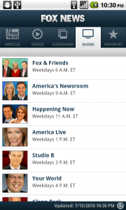 Fox News Arrives on the Android Market