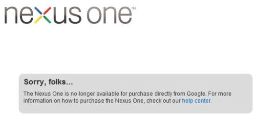 Nexus One Sale Comes to an End
