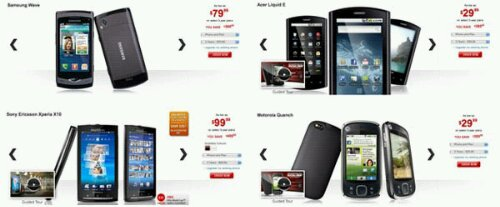 Rogers Reduced cost of many Android Phones
