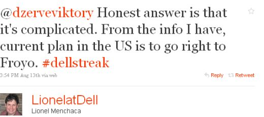 U.S. Dell Streak To Receive Android 2.2 Directly From Android 1.6
