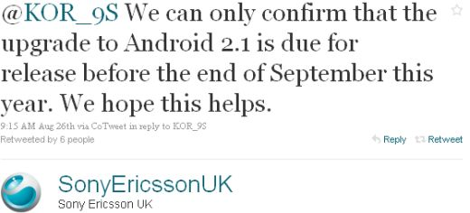 Sony Ericsson Xperia X10 Smartphone to Receive Android 2.1 in September