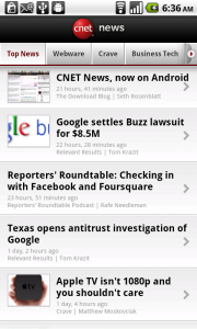 CNET News Android App Review