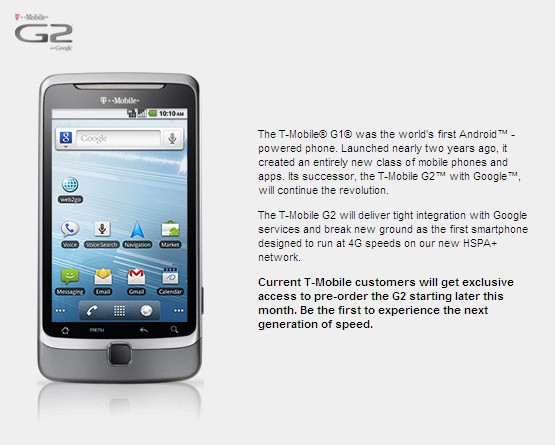 T-Mobile Gives the G2 Android 2.2 Phone the Official Treatment
