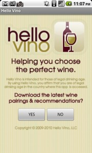 Hello Vino Android App Review