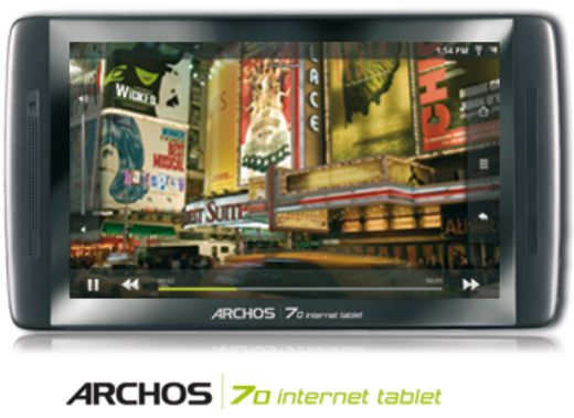 Archos 70 Now Available For $279, Sports Android 2.2 and Front Facing Camera
