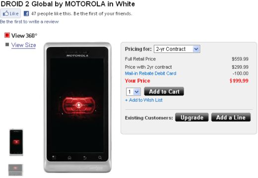 Verizon Wireless Officially Launches The Motorola Droid 2 Global