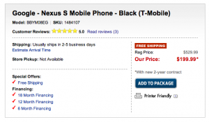 Google Nexus S Goes Up for Sale, Who's Buying?