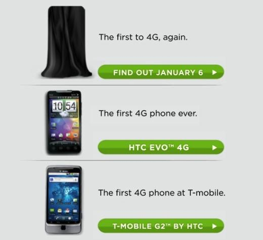 HTC Teases With 4G Smartphone Announcement On January 6