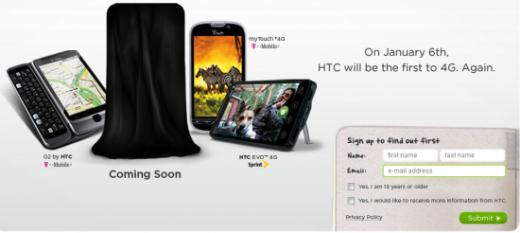 HTC Launches Thunderbolt 4G Sign-Up Page