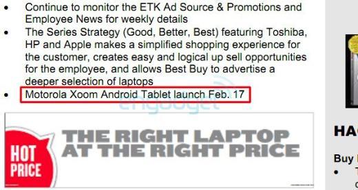 Motorola Xoom Expected to Launch February 17
