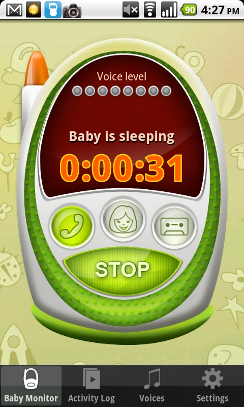 baby monitor alarm android app review android app reviews android apps. Black Bedroom Furniture Sets. Home Design Ideas